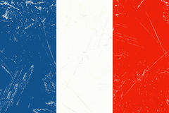 Grunge flag country - France. Vintage grunge flag of country France with scratches Royalty Free Stock Photos