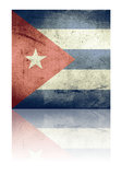 Grunge flag of cuba Royalty Free Stock Photos