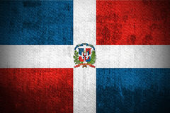 Grunge Flag Of Dominican Republic stock photo