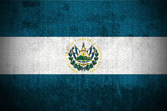 Grunge Flag Of El Salvador Royalty Free Stock Photo