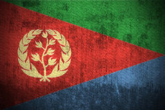 Grunge Flag Of Eritrea. Weathered Flag Of Eritrea, fabric textured Royalty Free Stock Photography