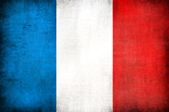 Grunge flag of France Royalty Free Stock Image