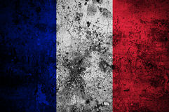 Grunge flag of France Royalty Free Stock Photography