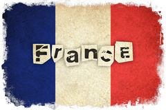 Grunge Flag of France / French country Royalty Free Stock Image