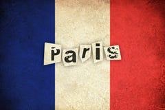Grunge Flag of France / Paris Royalty Free Stock Image