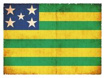 Grunge flag of Goias & x28;Brazil& x29;. Flag of the Brazilian state Goias created in grunge style Stock Photo