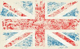 Grunge Flag of Great Britain, United Kingdom flag. with grunge texture.Vector. Grunge Flag of Great Britain with grunge texture.Vector illustration United royalty free illustration