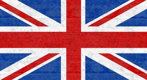 Grunge flag of Great Britain, UK. English banner with scratched texture on denim fabric. Vector icon of flag of England. Grunge flag of Great Britain, UK royalty free illustration