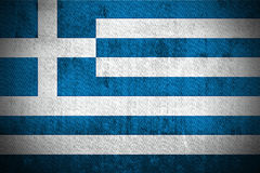 Grunge Flag Of Greece Stock Image