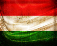Grunge flag Hungary. With folds vector illustration