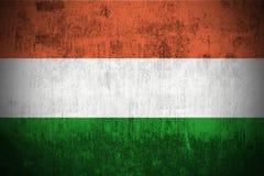 Grunge Flag Of Hungary stock image