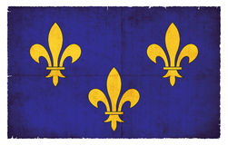 Grunge flag of Ile de France France Royalty Free Stock Photography