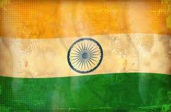 Grunge flag - India. Old grunge flag of india background vector illustration