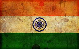 Grunge Flag of India Illustration Stock Photos
