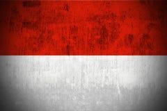 Grunge Flag Of Indonesia stock photos