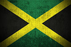 Grunge Flag Of Jamaica Stock Photos