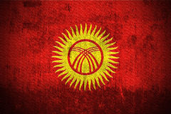 Grunge Flag Of Kyrgyzstan Stock Images