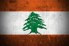 Grunge Flag Of Lebanon Royalty Free Stock Image