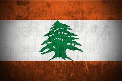 Grunge Flag Of Lebanon vector illustration