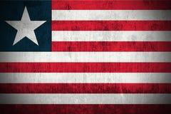 Grunge Flag Of Liberia stock photo