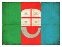 Grunge flag of Liguria Italy Royalty Free Stock Photography