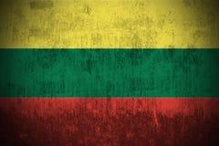 Grunge Flag Of Lithuania stock image