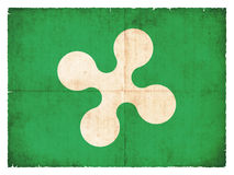 Grunge flag of Lombardy Italy Stock Image