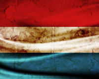Grunge flag Luxembourg Stock Image