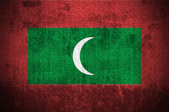 Grunge Flag Of Maldives Stock Photos