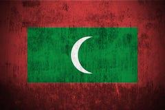 Grunge Flag Of Maldives stock photos