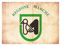 Grunge flag of Marche Italy Royalty Free Stock Photo