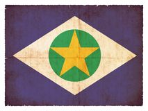 Grunge flag of Mato Grosso & x28;Brazil& x29;. Flag of the Brazilian state Mato Grosso created in grunge style Royalty Free Stock Photos