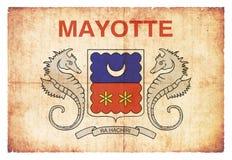 Grunge flag Mayotte France Royalty Free Stock Images