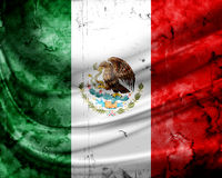Grunge flag Mexico. With folds Stock Images