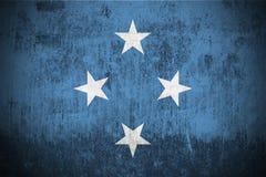 Grunge Flag Of Micronesia stock photography