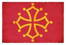 Grunge flag of Midi-Pyrenees France Stock Photo