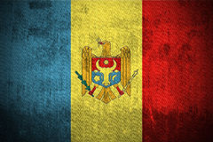 Grunge Flag Of Moldova stock photo