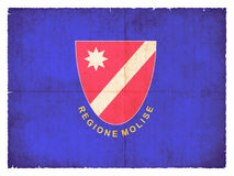 Grunge flag of Molise Italy Stock Photography
