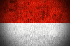Grunge Flag Of Monaco stock photography