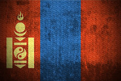 Grunge Flag Of Mongolia Stock Image