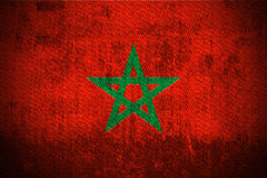 Grunge Flag Of Morocco Stock Photography