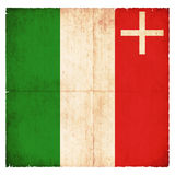 Grunge flag of Neuchatel Switzerland Royalty Free Stock Photo