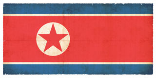 Grunge flag of the North korea Stock Images