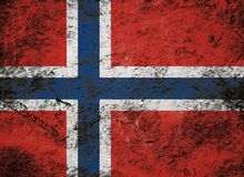 Grunge flag of Norway on stone background Royalty Free Stock Image
