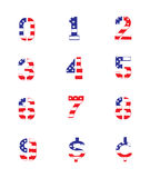 Grunge Flag Numbers Stock Photo
