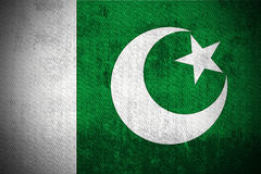 Grunge Flag Of Pakistan. Weathered Flag Of Pakistan, fabric textured Royalty Free Stock Image