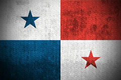 Grunge Flag Of Panama Stock Photos