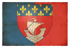 Grunge flag of Paris France. Flag of the French city of Paris created in grunge style Stock Image