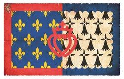 Grunge flag of Pays-de-la-Loire France Stock Photos