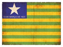 Grunge flag of Piaui Brazil Royalty Free Stock Photography